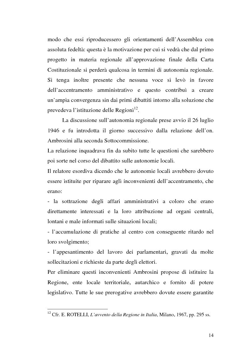 Anteprima della tesi: Le variazioni territoriali delle Regioni, Pagina 14