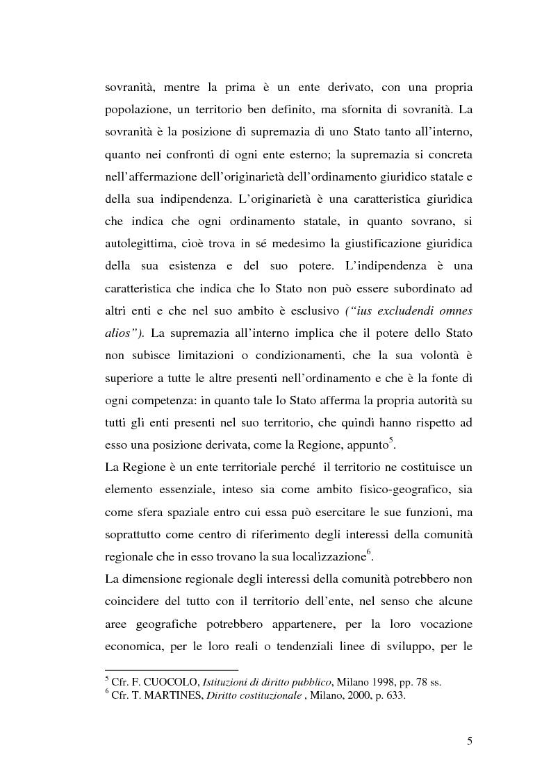 Anteprima della tesi: Le variazioni territoriali delle Regioni, Pagina 5