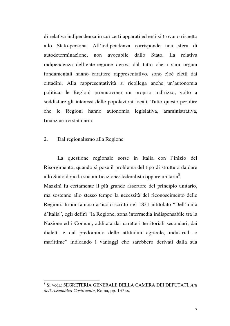 Anteprima della tesi: Le variazioni territoriali delle Regioni, Pagina 7