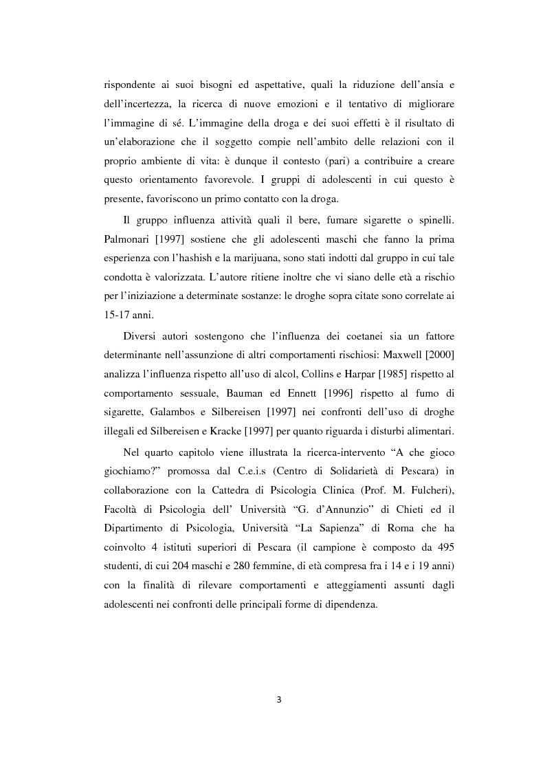 Anteprima della tesi: Adolescenza: relazioni fra pari e comportamenti a rischio, Pagina 3