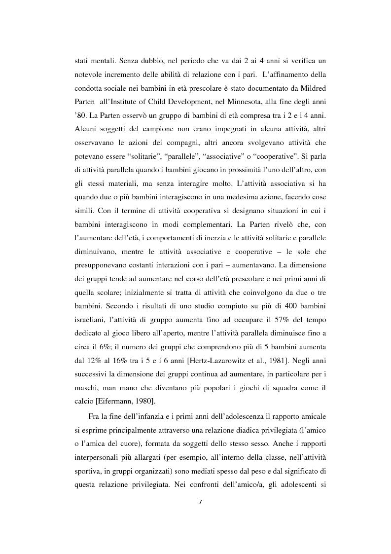 Anteprima della tesi: Adolescenza: relazioni fra pari e comportamenti a rischio, Pagina 7