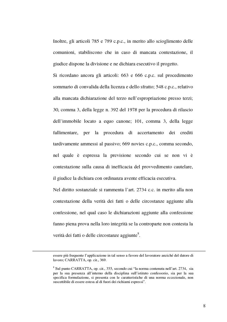 Anteprima della tesi: Profili evolutivi del principio di non contestazione nel processo civile, Pagina 6