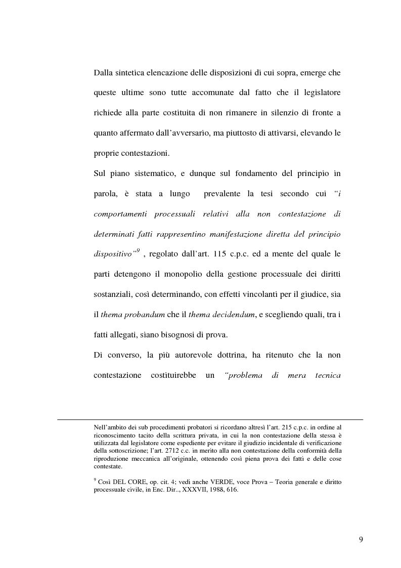 Anteprima della tesi: Profili evolutivi del principio di non contestazione nel processo civile, Pagina 7