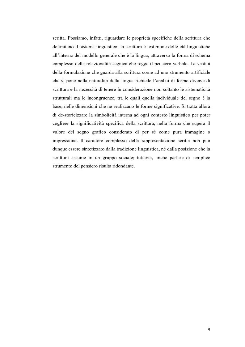 Anteprima della tesi: Simbolicità e scrittura. C. S. Peirce e F. de Saussure, logiche e limiti, Pagina 6
