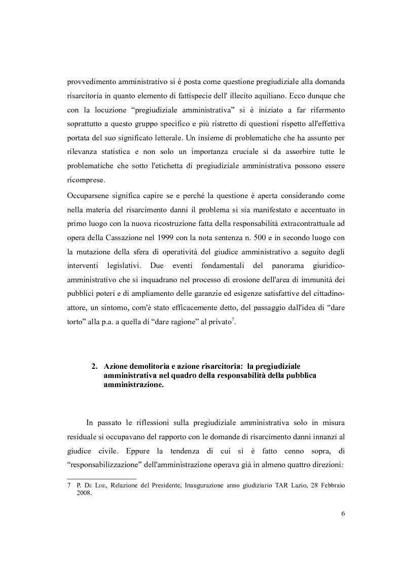 Anteprima della tesi: Responsabilità civile della Pubblica Amministrazione. La questione della pregiudizialità amministrativa: genesi del dibattito e frontiere giurisprudenziali, Pagina 5