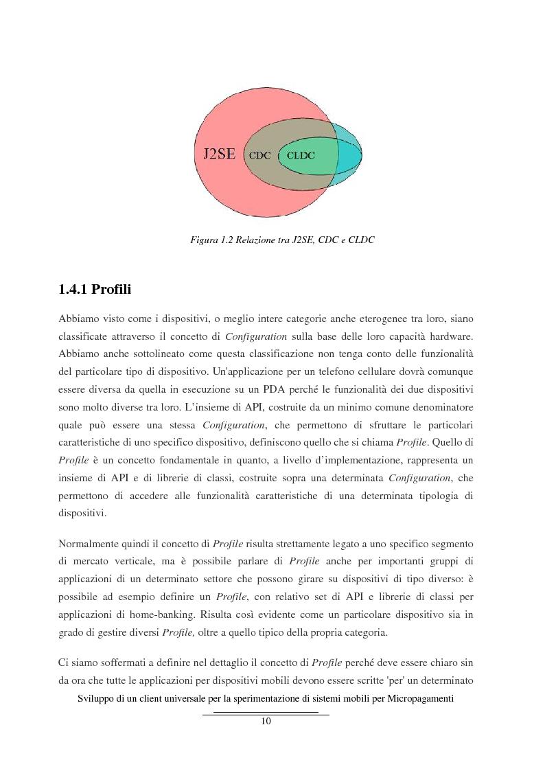 Anteprima della tesi: Sviluppo di un client universale per la sperimentazione di sistemi mobili per micropagamenti, Pagina 10