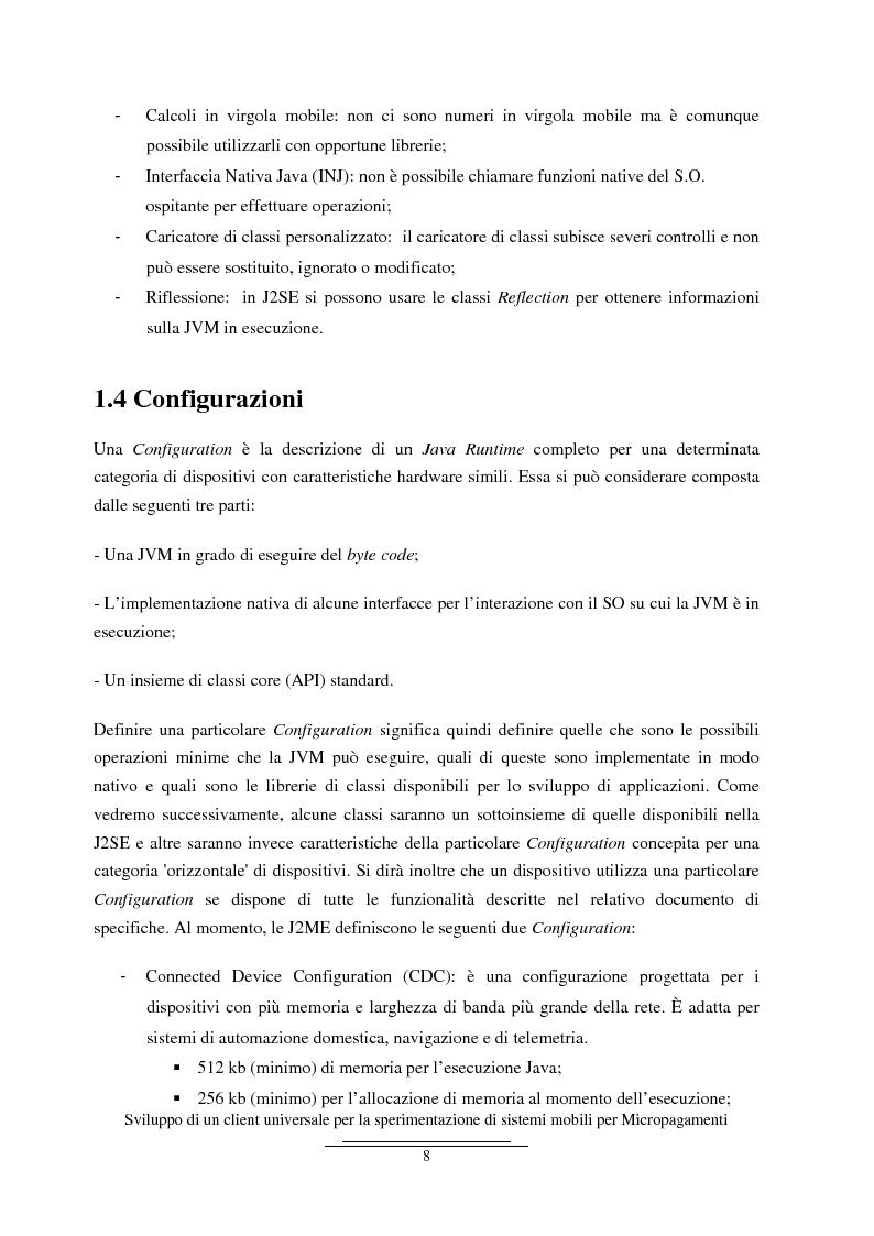 Anteprima della tesi: Sviluppo di un client universale per la sperimentazione di sistemi mobili per micropagamenti, Pagina 8