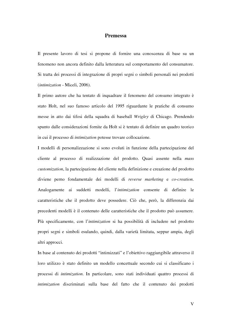 Anteprima della tesi: Nuove direzioni per la personalizzazione dell'offerta: l'intimization, Pagina 1