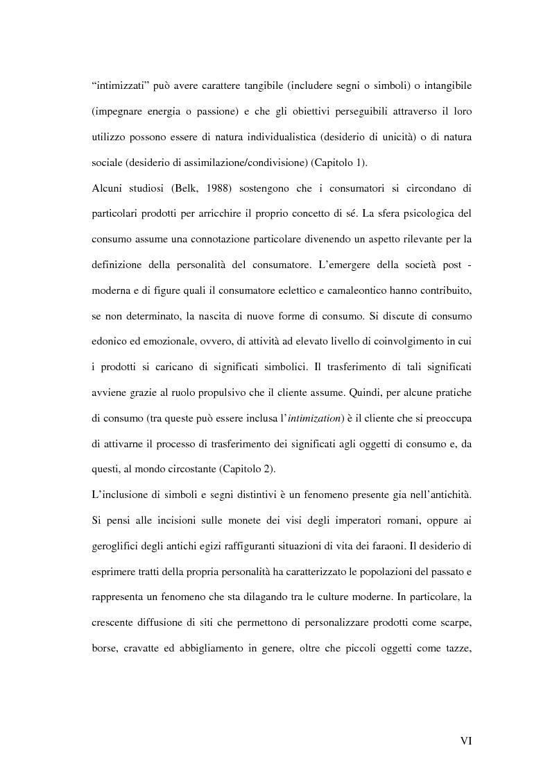 Anteprima della tesi: Nuove direzioni per la personalizzazione dell'offerta: l'intimization, Pagina 2