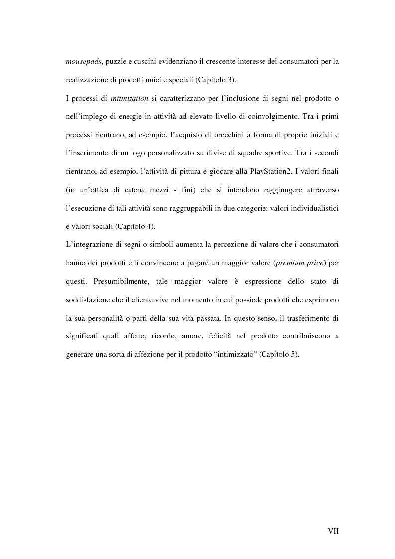 Anteprima della tesi: Nuove direzioni per la personalizzazione dell'offerta: l'intimization, Pagina 3