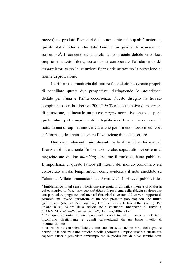 Anteprima della tesi: Gli obblighi informativi degli intermediari finanziari alla luce della direttiva 2004/39/CE, Pagina 3