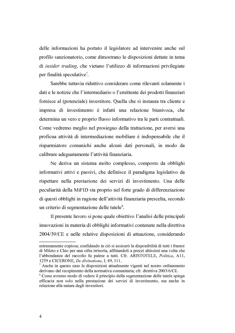 Anteprima della tesi: Gli obblighi informativi degli intermediari finanziari alla luce della direttiva 2004/39/CE, Pagina 4