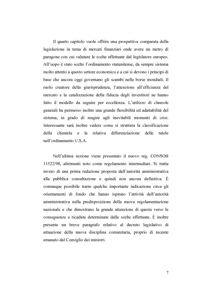Anteprima della tesi: Gli obblighi informativi degli intermediari finanziari alla luce della direttiva 2004/39/CE, Pagina 7