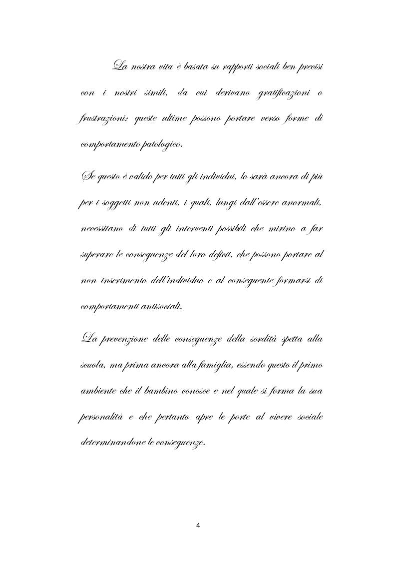 Anteprima della tesi: Una scuola oltre il silenzio, Pagina 1