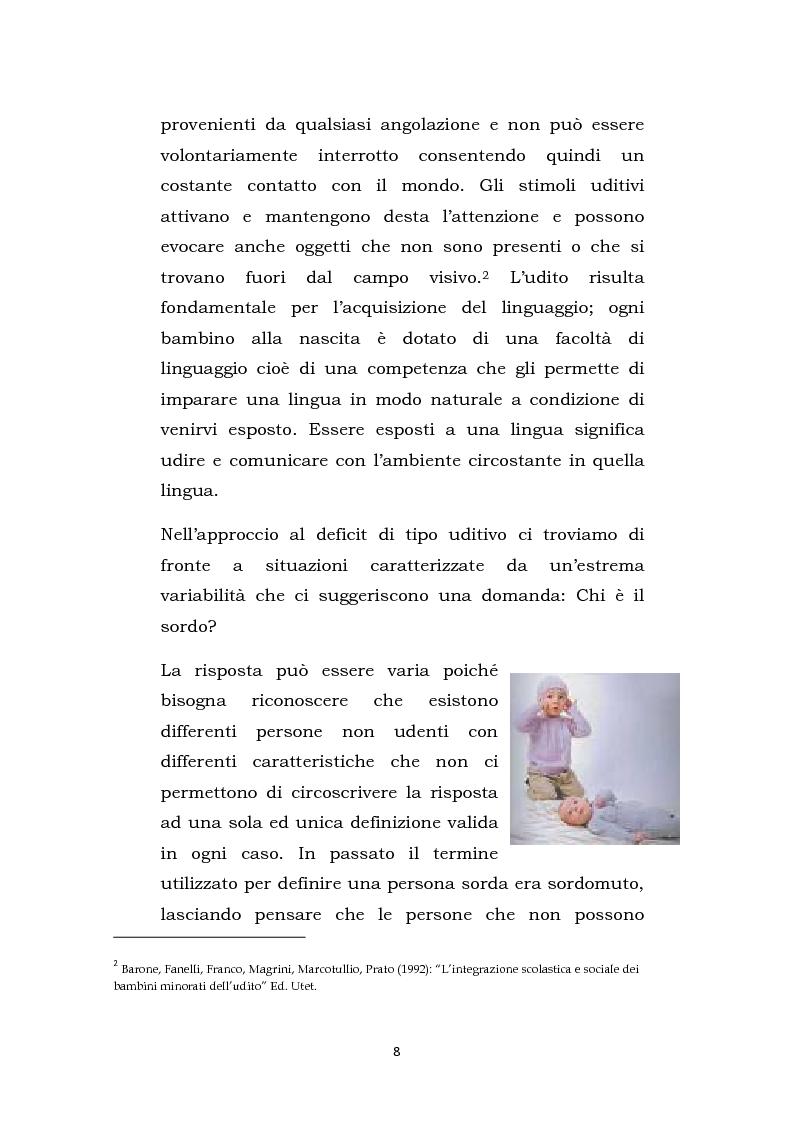 Anteprima della tesi: Una scuola oltre il silenzio, Pagina 5