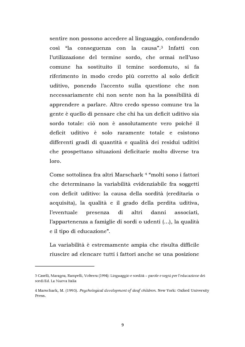 Anteprima della tesi: Una scuola oltre il silenzio, Pagina 6
