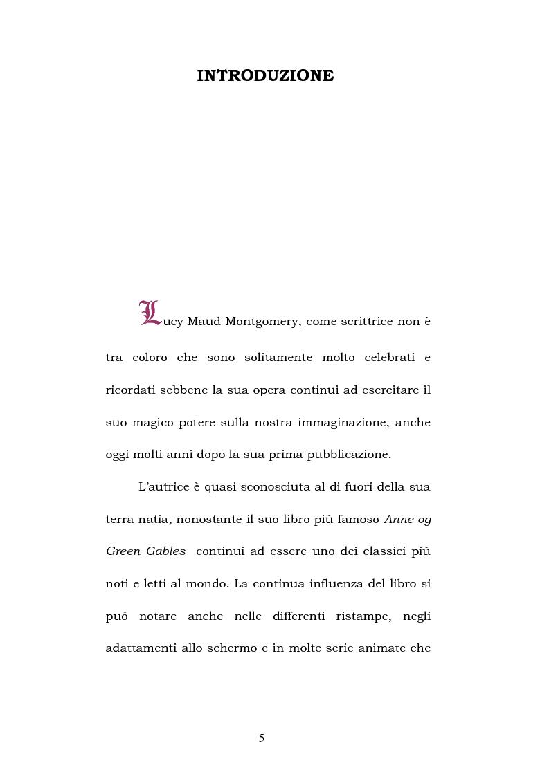 Anteprima della tesi: Lucy Maud Montgomery: Anne of Green Gables, storia di un'identità canadese, Pagina 1