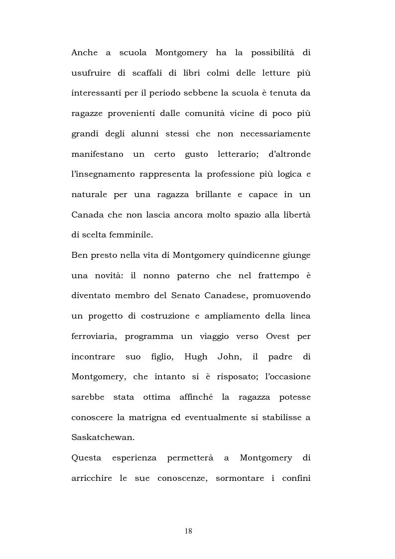 Anteprima della tesi: Lucy Maud Montgomery: Anne of Green Gables, storia di un'identità canadese, Pagina 14