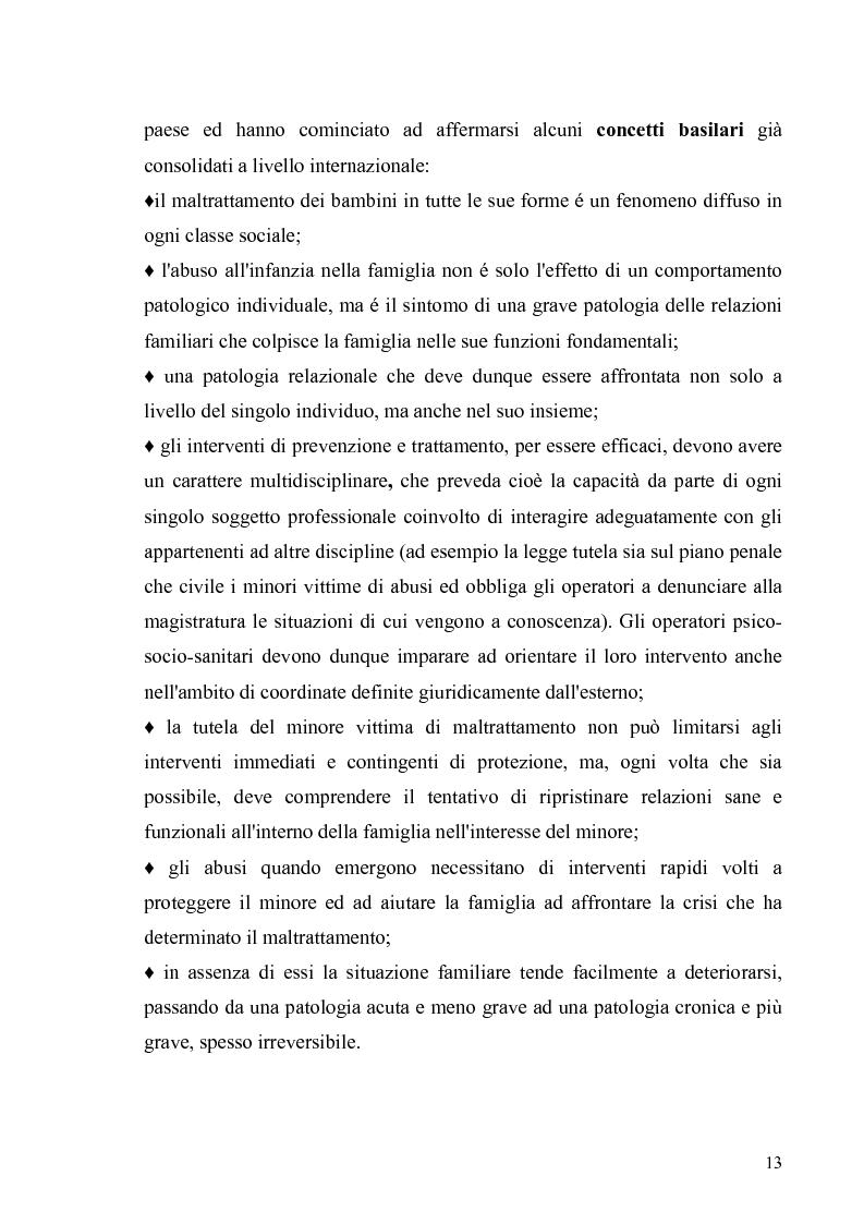 Anteprima della tesi: Aspetti psicologico-giuridici dell'abuso sui minori. Dalla denuncia al trattamento, Pagina 11