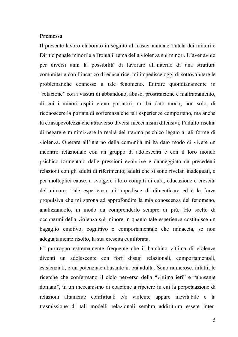 Anteprima della tesi: Aspetti psicologico-giuridici dell'abuso sui minori. Dalla denuncia al trattamento, Pagina 3