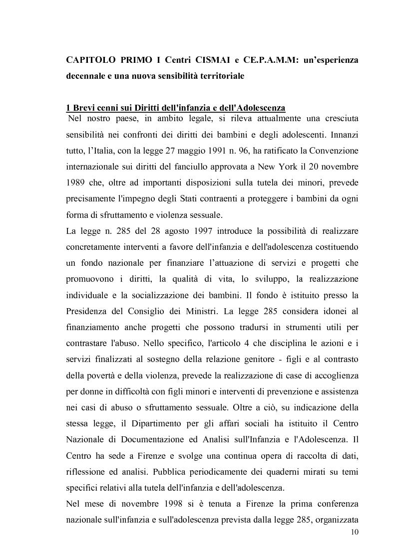 Anteprima della tesi: Aspetti psicologico-giuridici dell'abuso sui minori. Dalla denuncia al trattamento, Pagina 8