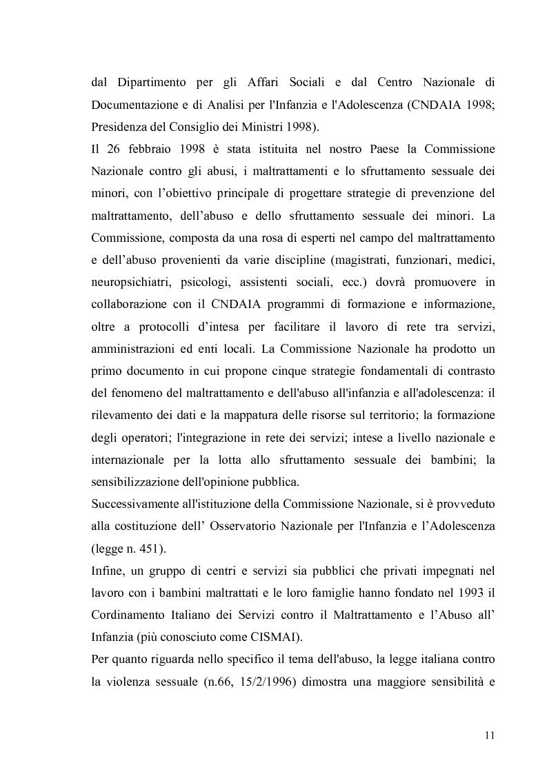 Anteprima della tesi: Aspetti psicologico-giuridici dell'abuso sui minori. Dalla denuncia al trattamento, Pagina 9