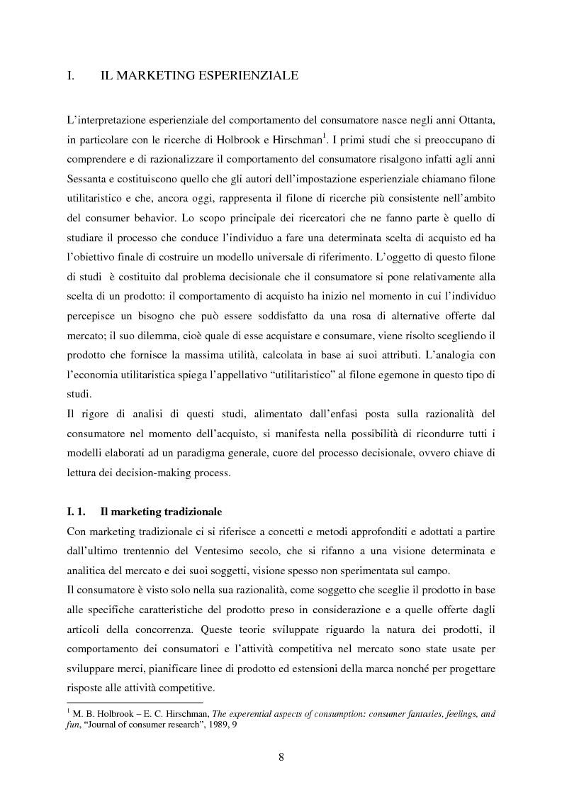 Anteprima della tesi: Cultura e marketing esperienziale: il soggetto al centro, Pagina 3
