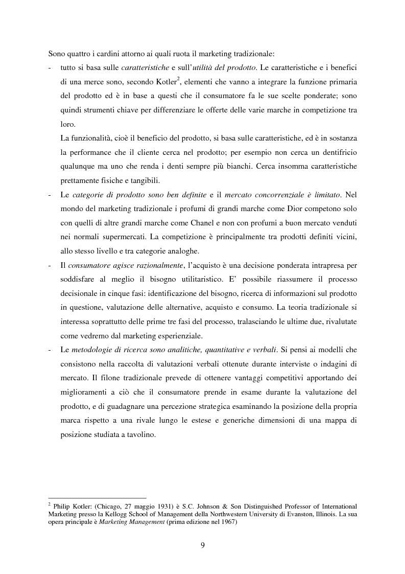 Anteprima della tesi: Cultura e marketing esperienziale: il soggetto al centro, Pagina 4