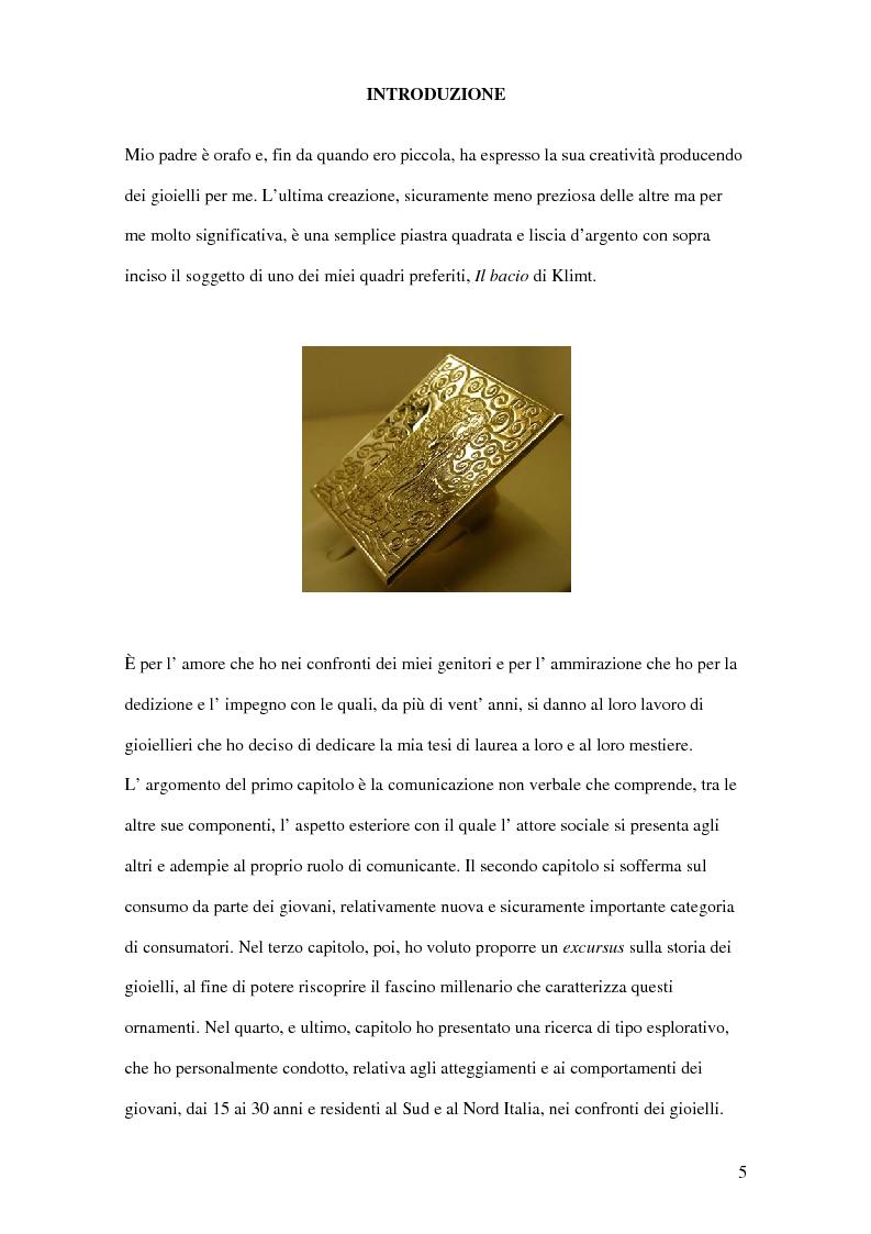 Anteprima della tesi: I giovani e il gioiello: una ricerca esplorativa, Pagina 1