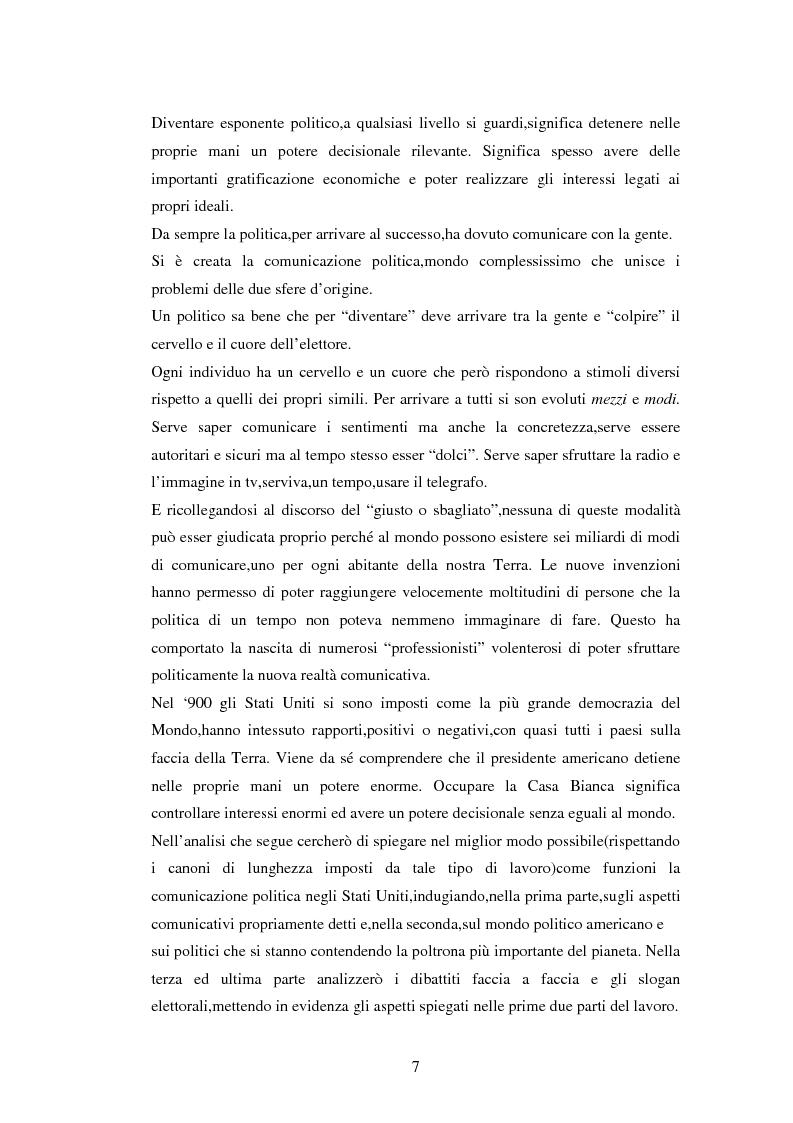 Anteprima della tesi: La comunicazione politica negli USA: analisi della campagna elettorale 2008, Pagina 2