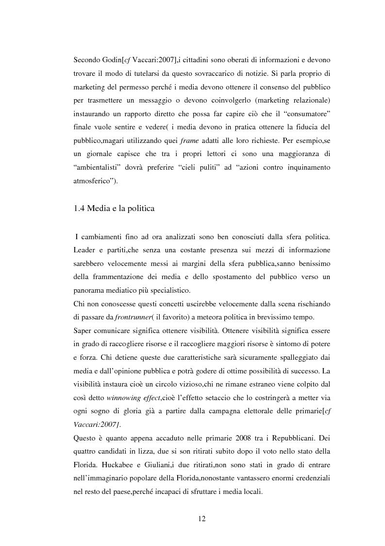 Anteprima della tesi: La comunicazione politica negli USA: analisi della campagna elettorale 2008, Pagina 7