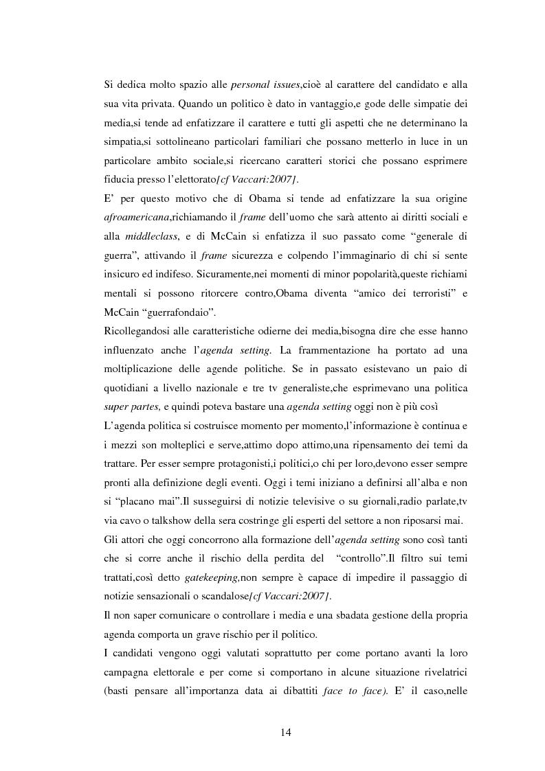 Anteprima della tesi: La comunicazione politica negli USA: analisi della campagna elettorale 2008, Pagina 9