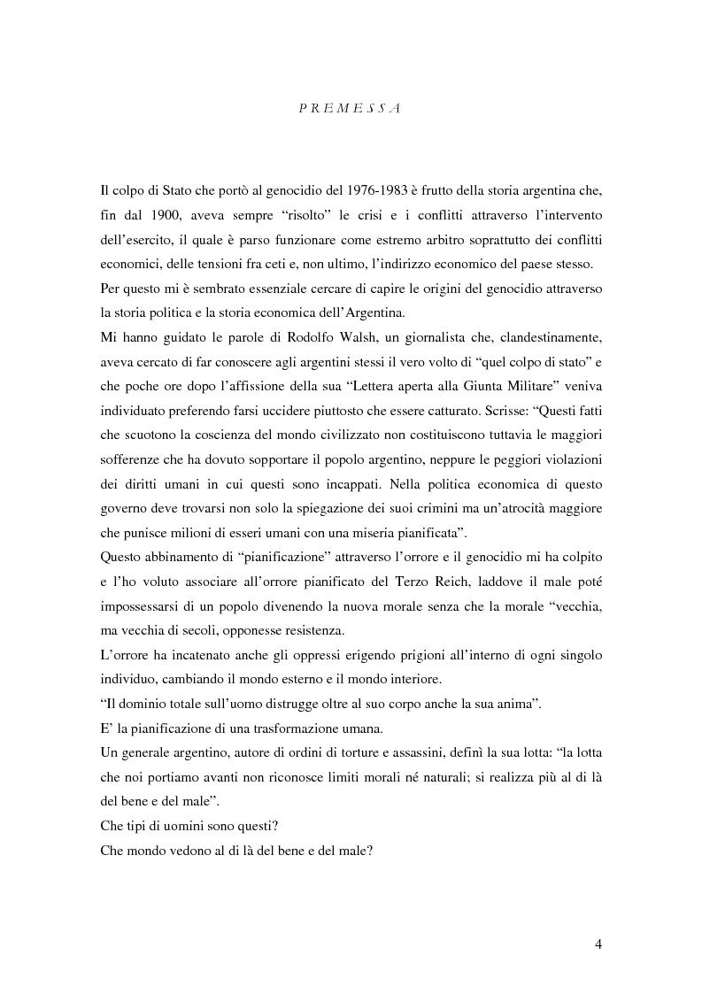 Anteprima della tesi: Il genocidio argentino del 1976/1979 e l'interpretazione arendtiana del caso Eichmann, Pagina 1