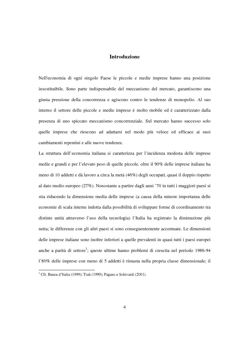 Anteprima della tesi: Pmi, crescita e fabbisogno finanziario: un ruolo possibile per il venture capital, Pagina 1