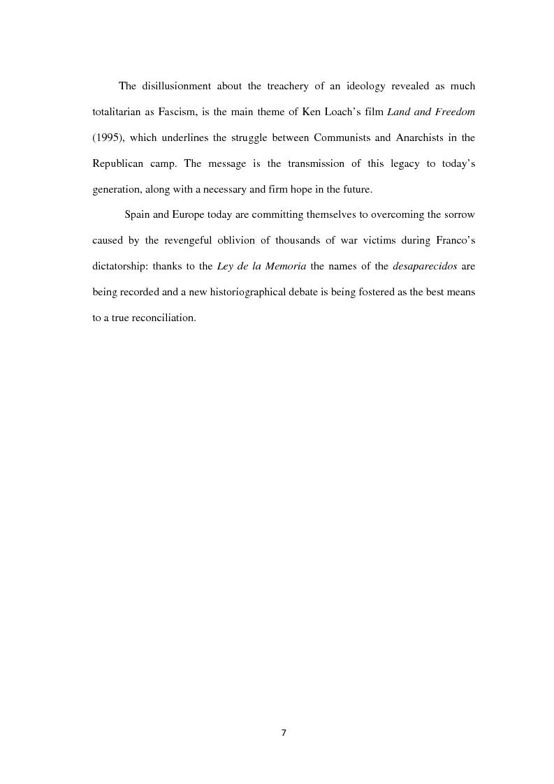 Anteprima della tesi: La guerra civile spagnola nella memoria culturale europea: Marìas, Orwell, Loach, Pagina 4