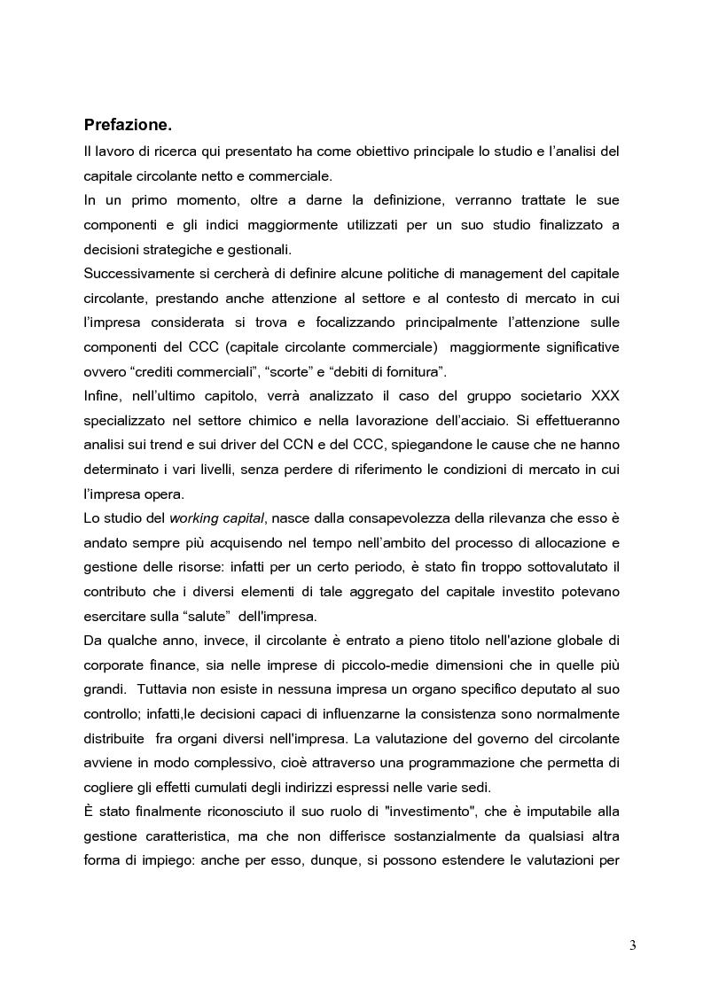 Anteprima della tesi: Working capital management: il caso di un'azienda chimica, Pagina 1