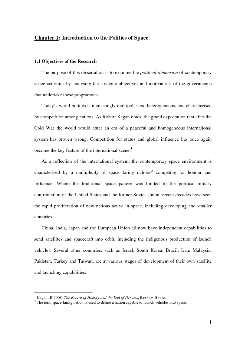 Anteprima della tesi: The Soft and Hard Power Dimensions of the Politics of Space, Pagina 1