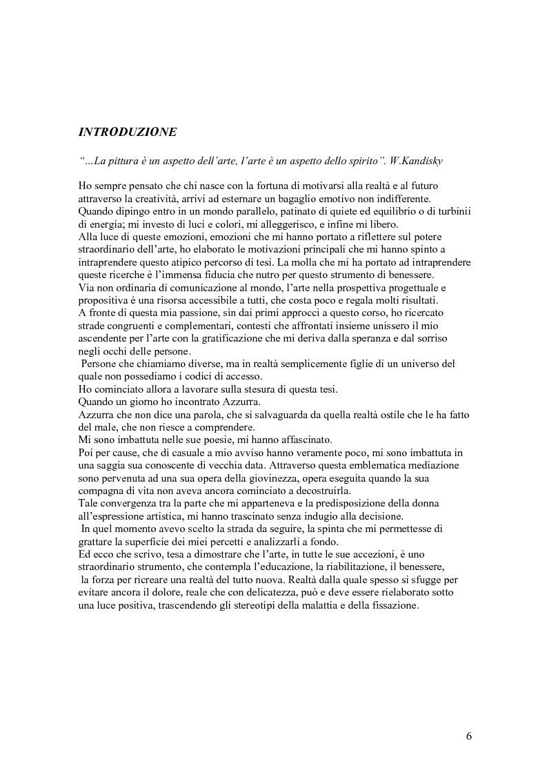 Anteprima della tesi: I colori dell'emozione: esplorazione della produzione artistica come mezzo comunicativo non convenzionale, Pagina 1