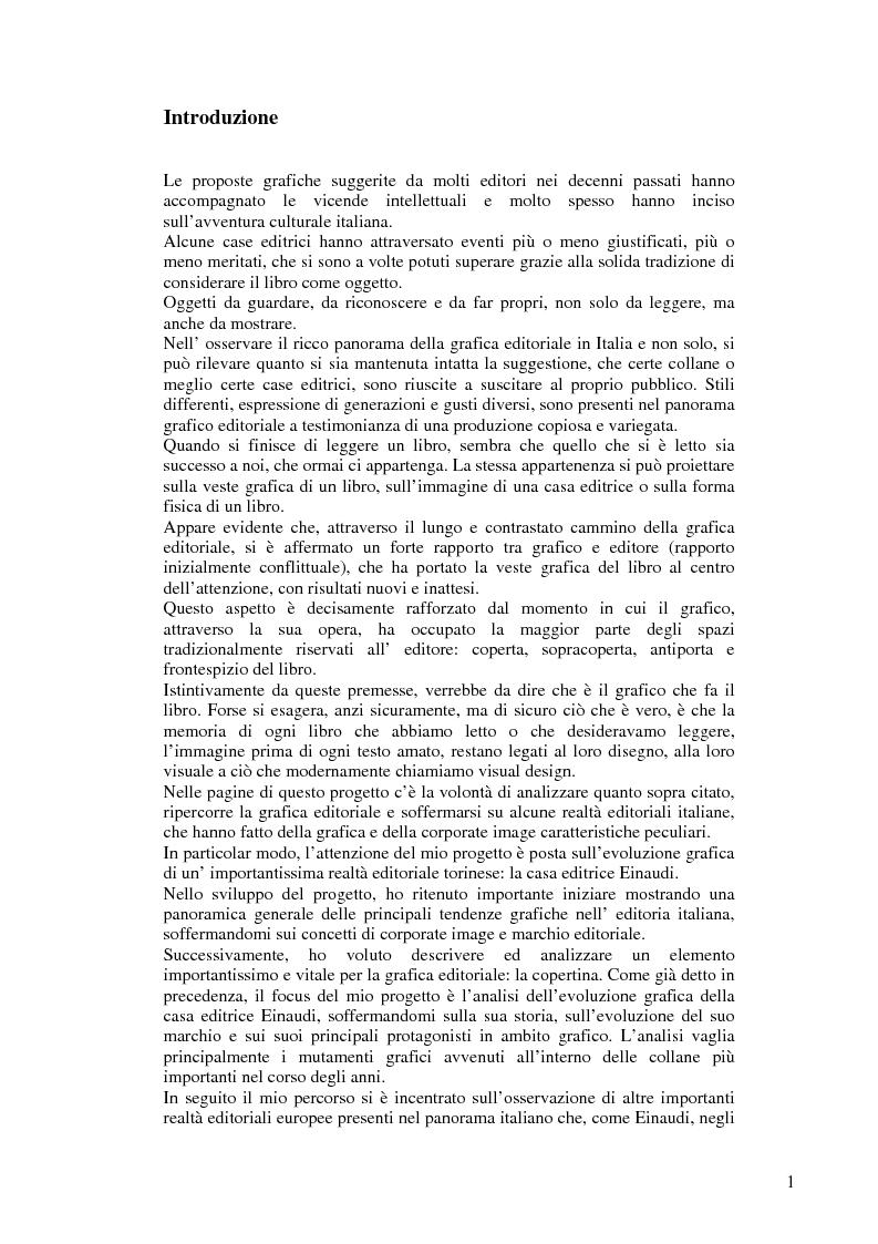 La copertina di un libro. Uno sguardo sulla grafica editoriale italiana ed europea attraverso le copertina Einaudi Edito...