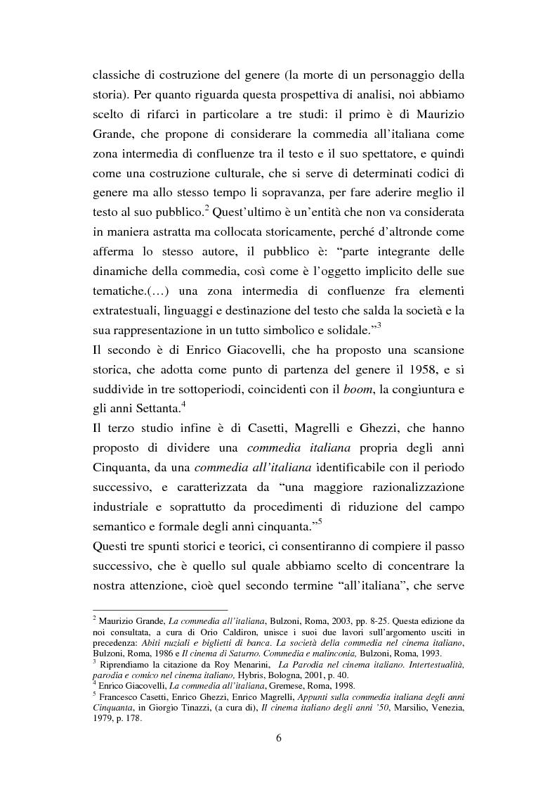 Anteprima della tesi: Dalla dolce vita alla vita agra. La commedia del boom (1960-1964), Pagina 3