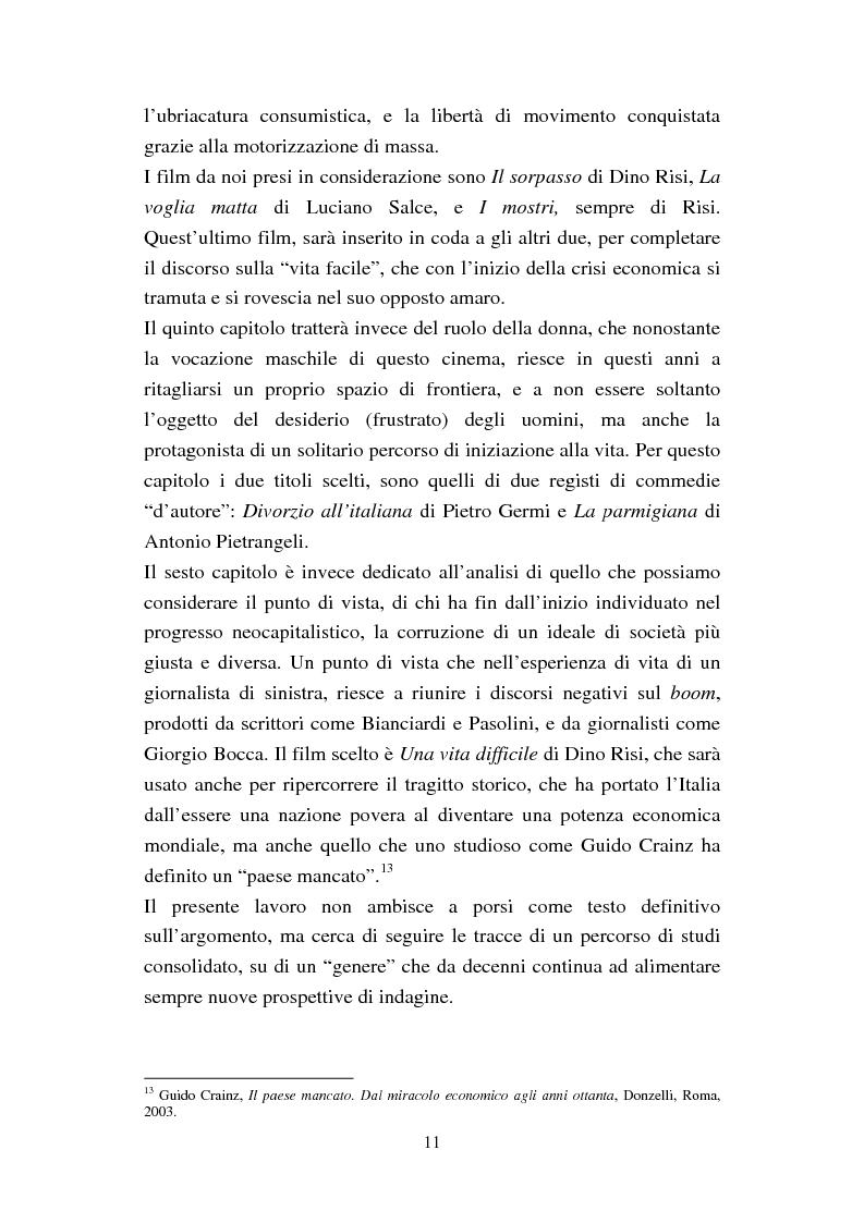 Anteprima della tesi: Dalla dolce vita alla vita agra. La commedia del boom (1960-1964), Pagina 8