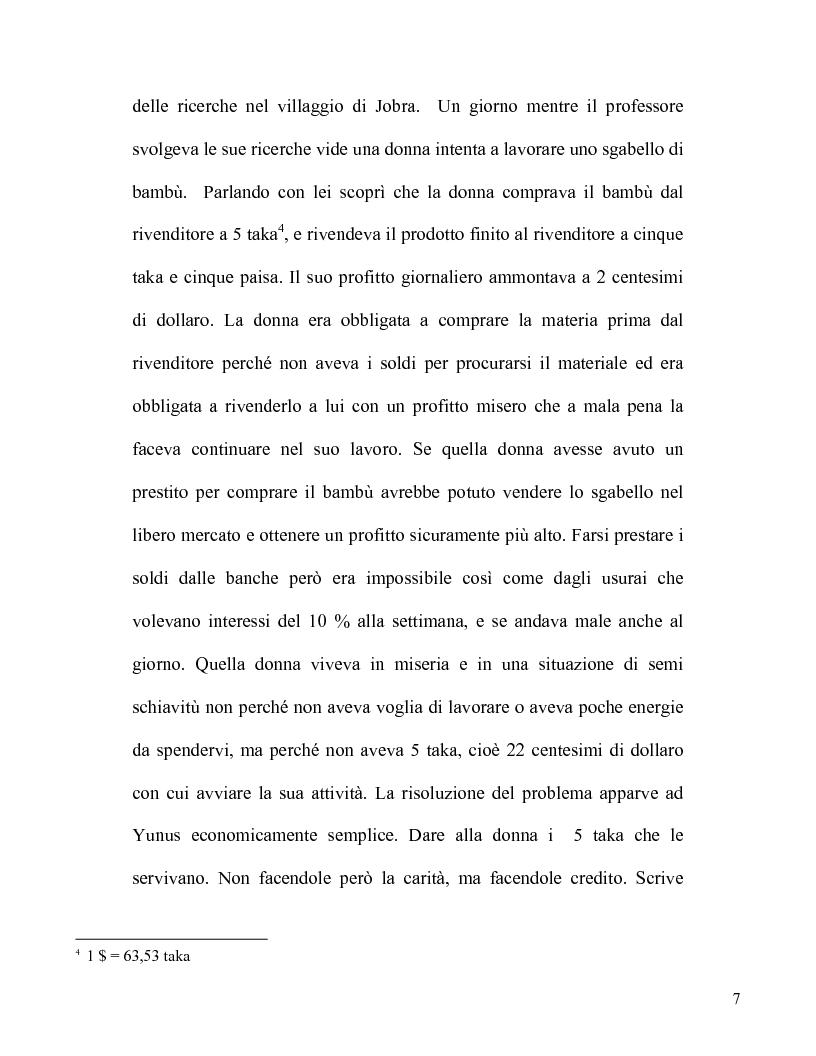 Anteprima della tesi: Il microcredito: un'invenzione semplice e rivoluzionaria, Pagina 5