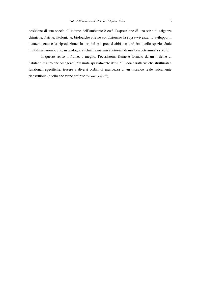 Anteprima della tesi: Stato dell'ambiente del bacino del fiume Misa (Marche), Pagina 2