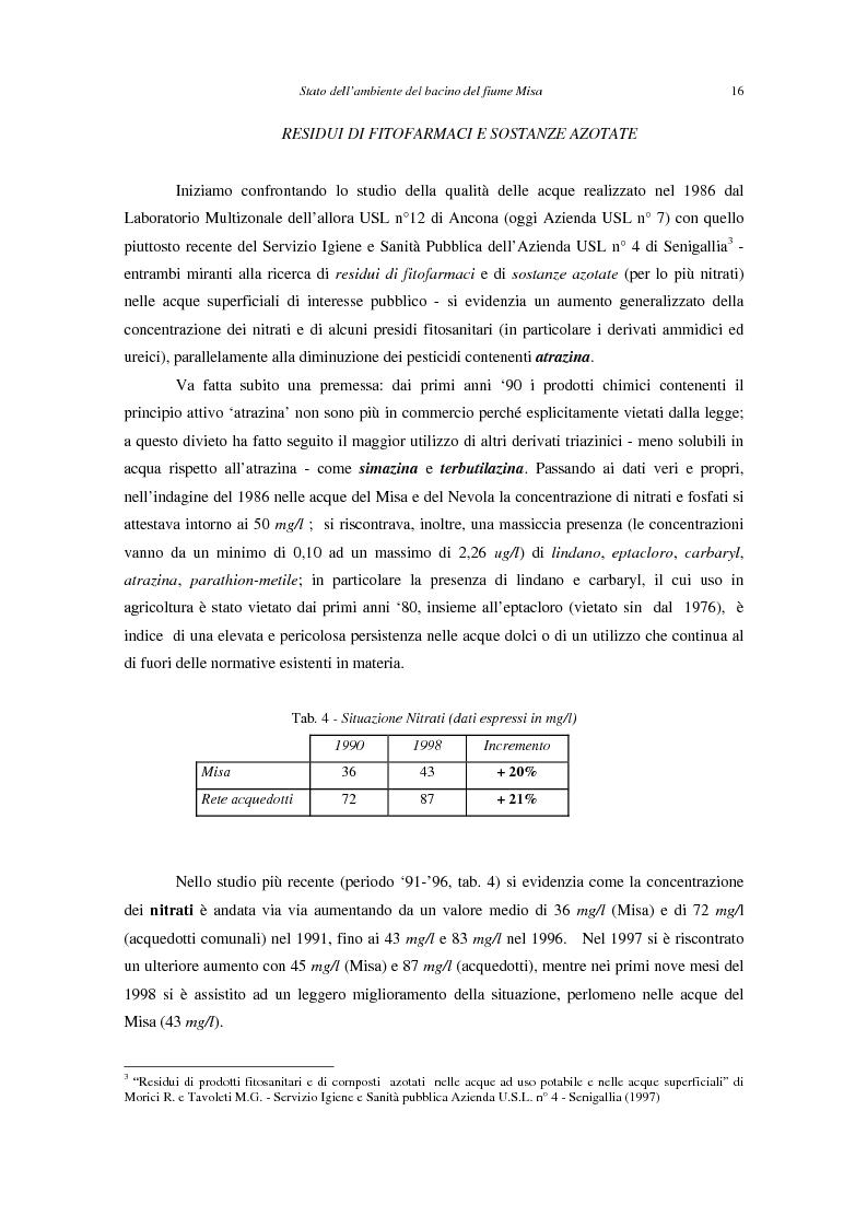 Anteprima della tesi: Stato dell'ambiente del bacino del fiume Misa (Marche), Pagina 8