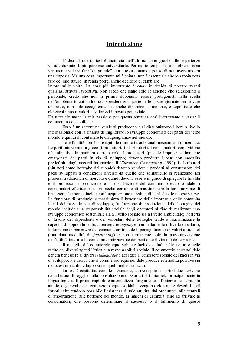 Anteprima della tesi: Competenze informali: il caso dei volontari nel commercio equo solidale, Pagina 1