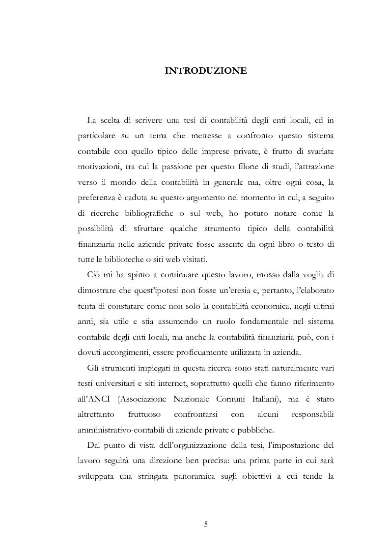 Contabilit� delle aziende pubbliche istituzionali e contabilit� economica. Analisi e spunti di riflessione - Tesi di Lau...