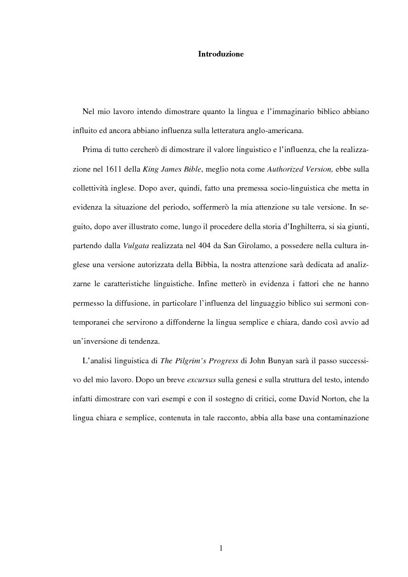 Il Grande Codice - Lingua e immaginario biblico nella letteratura anglo-americana - Tesi di Laurea