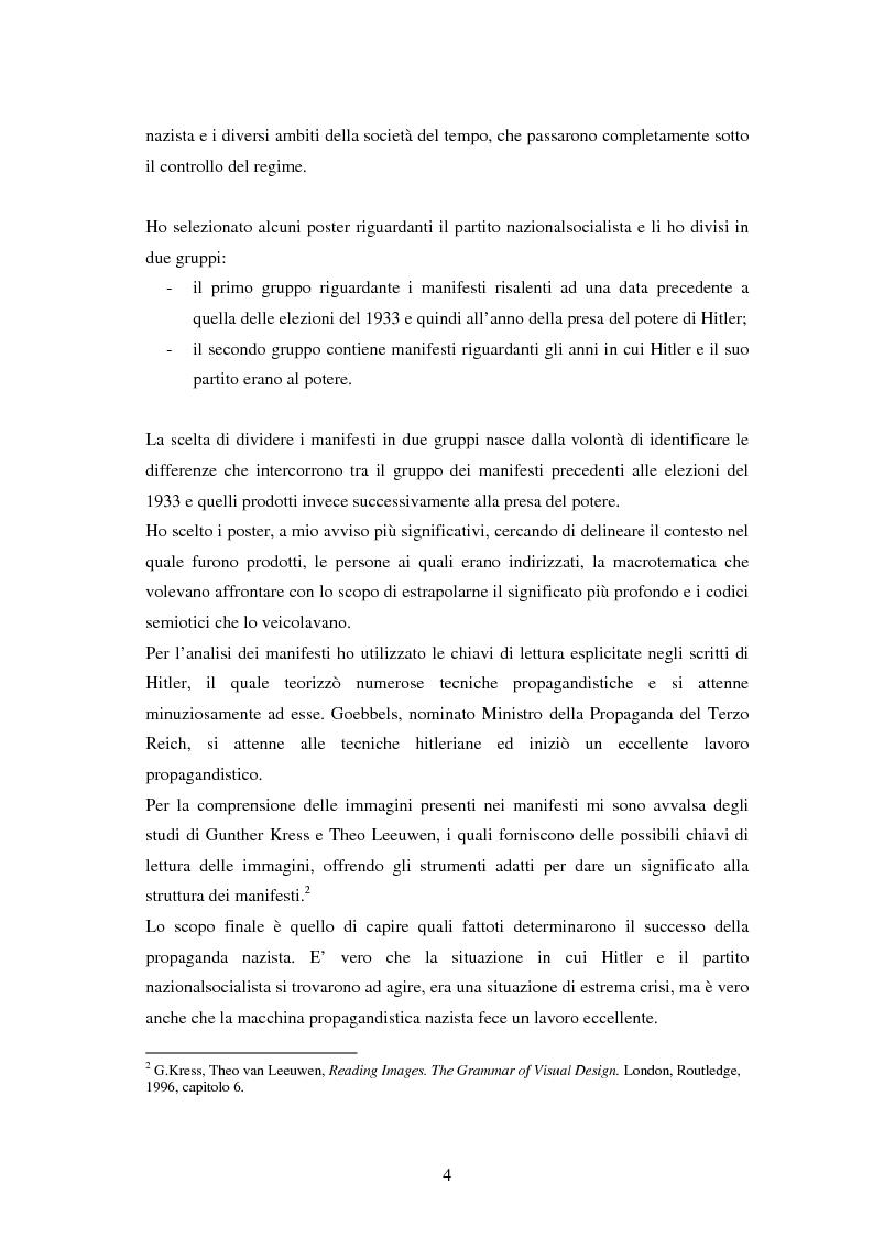 Anteprima della tesi: Il manifesto come strumento della propaganda nazista, Pagina 2