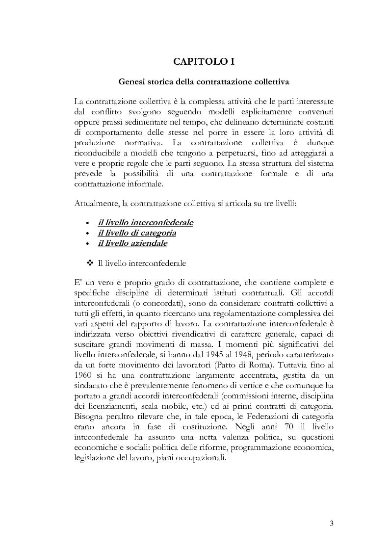 Anteprima della tesi: La contrattazione collettiva nel pubblico impiego, Pagina 3