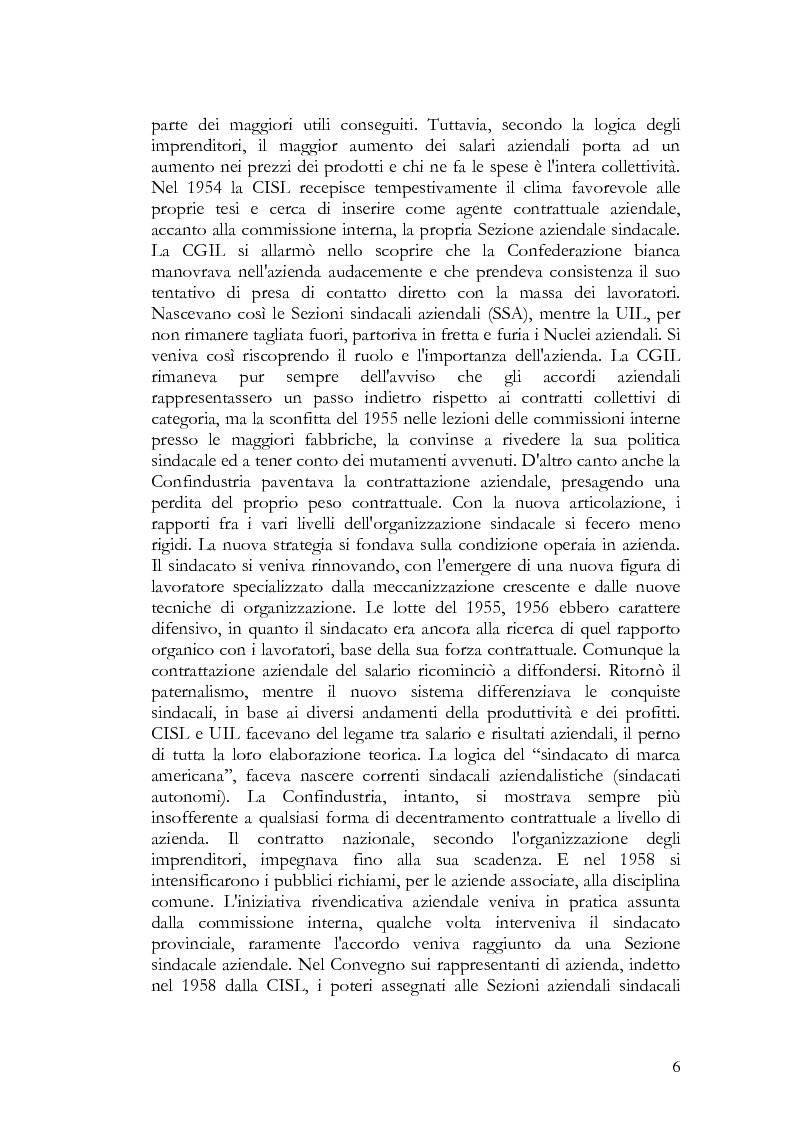 Anteprima della tesi: La contrattazione collettiva nel pubblico impiego, Pagina 6